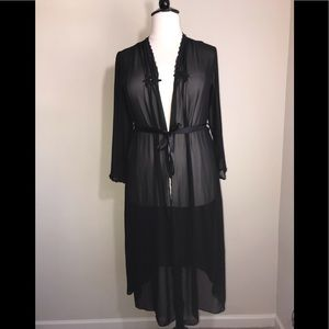 Other - Black 1X Sheer Robe